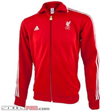 Adidas Liverpool Track Top Scarlet with White