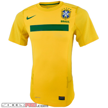 Nike Brazil Authentic Home Jersey 2011