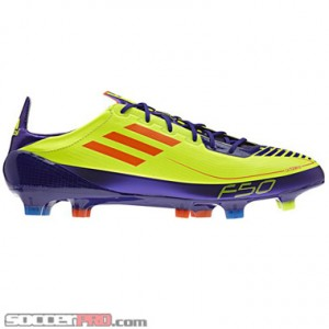 Bright Neon Soccer Cleats http://soccerprose.com/soccer-players/adidas-f50-adizero-prime-fg-electricity-with-infrared-and-purple/