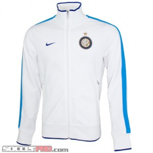 Nike Inter Milan Authentic N98 Jacket - White with Blue Glow