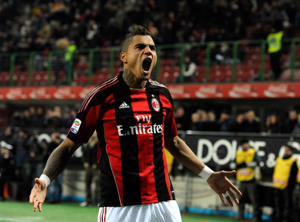 Kevin Prince Boateng Scores a Beauty To Begin the Destruction of Arsenal…(Video)