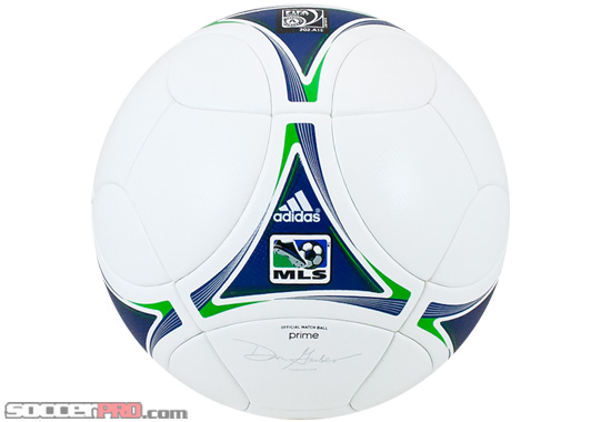 Adidas 2012 MLS Match Ball Review – White with Royal and Green