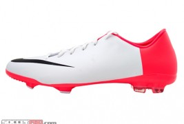 Nike Youth Mercurial Glide - White with Solar Red and Black