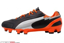 Puma evoSPEED 1 K - Black with White and Team Orange