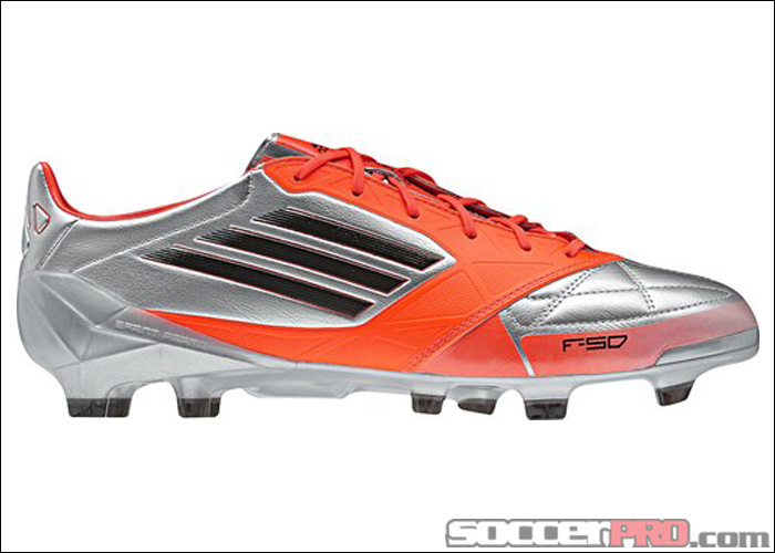 Reviewed: adidas F50 adiZero TRX Leather Soccer Cleats – Messi Edition – Metallic Silver with Infrared