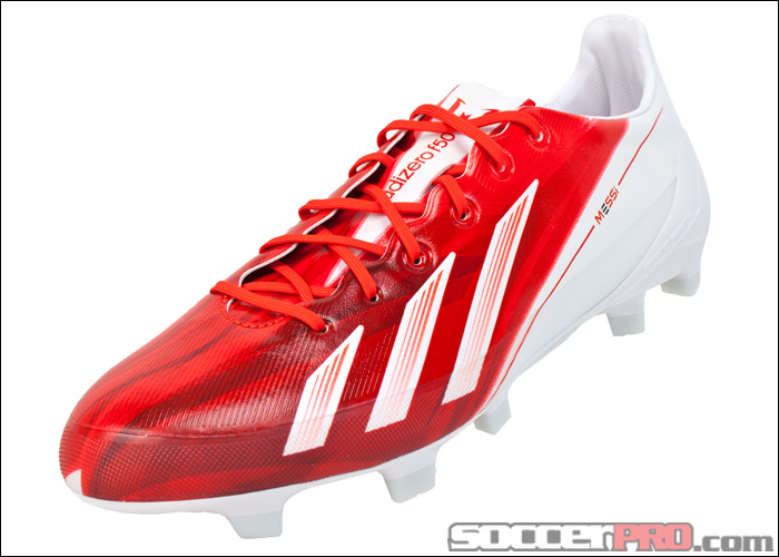adidas Messi F50 adizero TRX FG Soccer Cleats - Red with White - SoccerPro.com