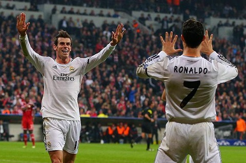 Real's Ronaldo and Bale