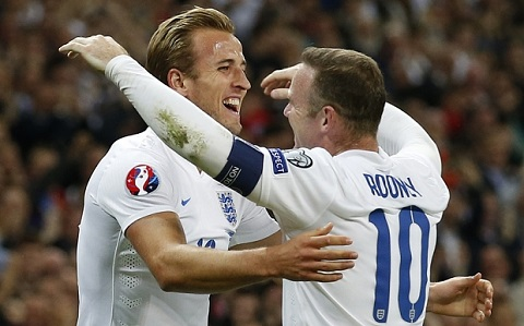 England's Kane and Rooney