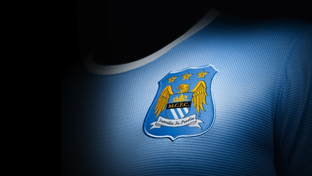 Man City home jersey badge